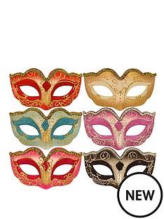 metallic-glitter-masquerade-masks-pack-of-6