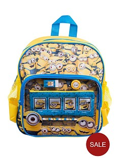 minions-stationery-filled-backpack