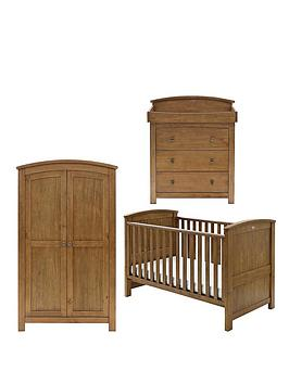 Silver Cross Ashby Cot Bed Dresser and Wardrobe Nursery Furniture Set