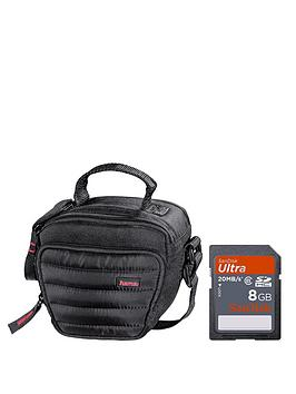 hama-bridge-bundle-with-sandisk-8gb-ultra-sd-card-and-hama-syscase-90-colt-camera-bag-black