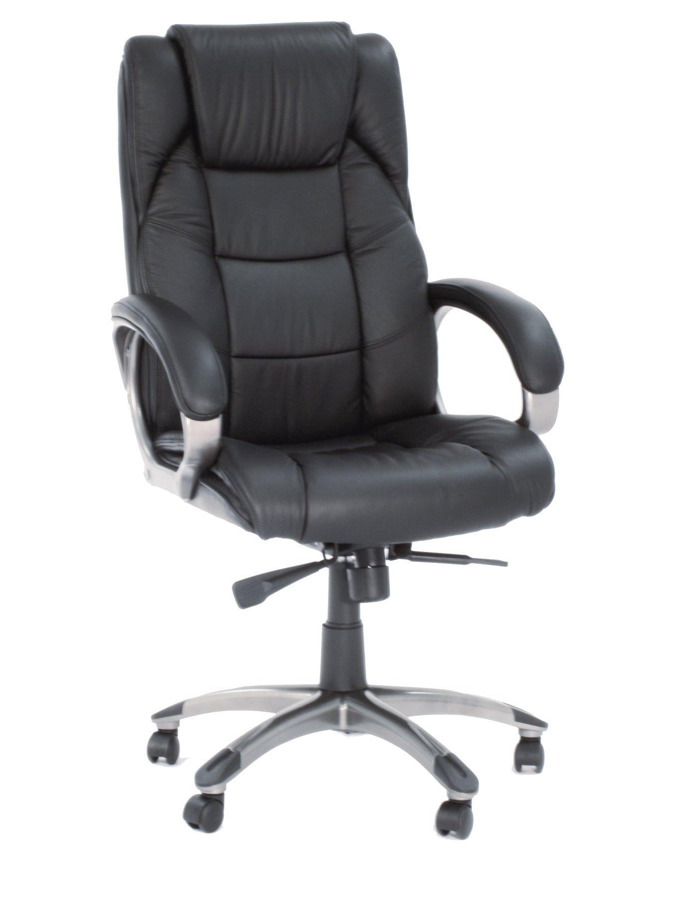 Northland Leather Office Chair, Black,Brown