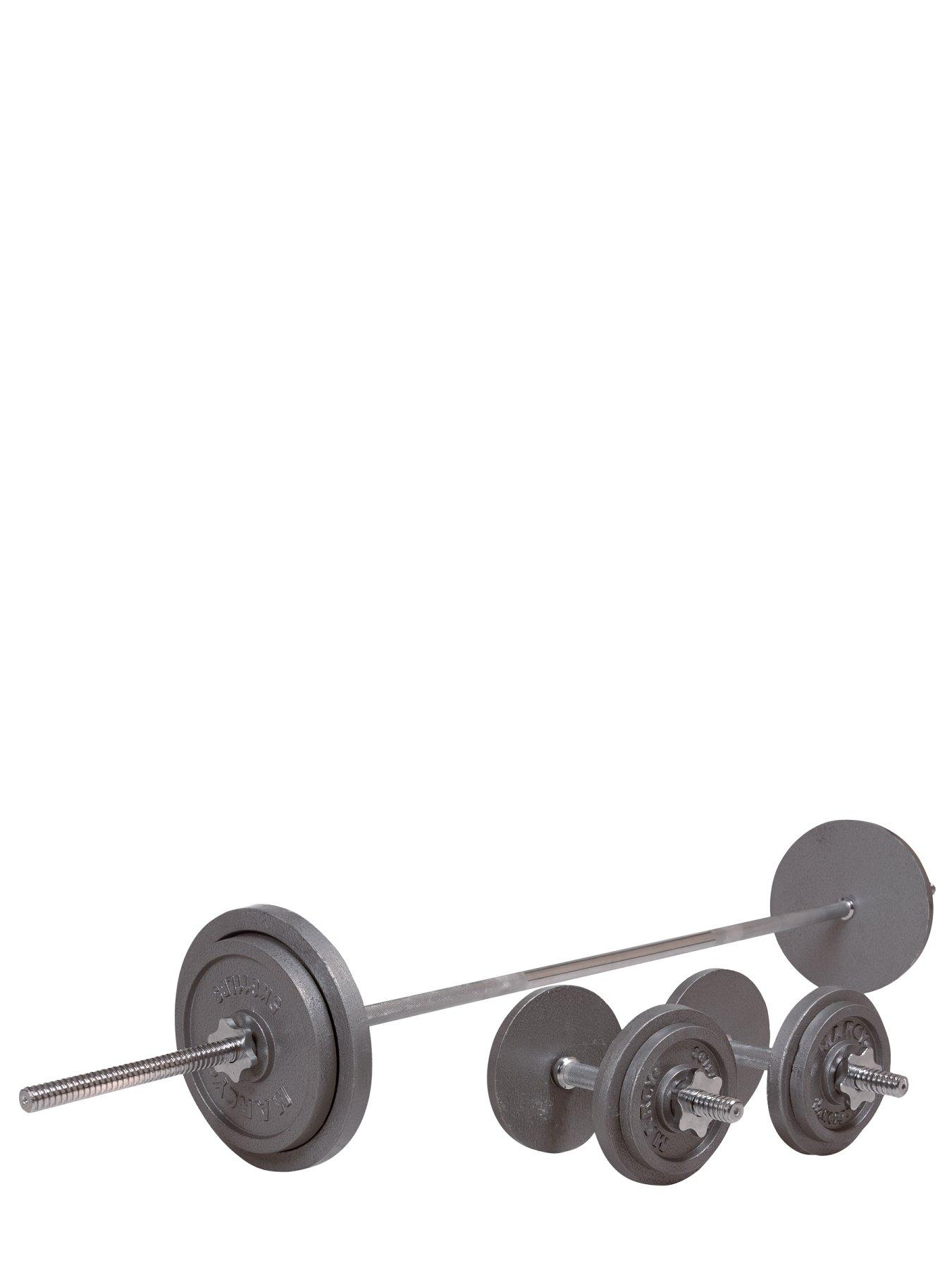 50kg Cast Iron/Dumbbell Set with 6ft Bar