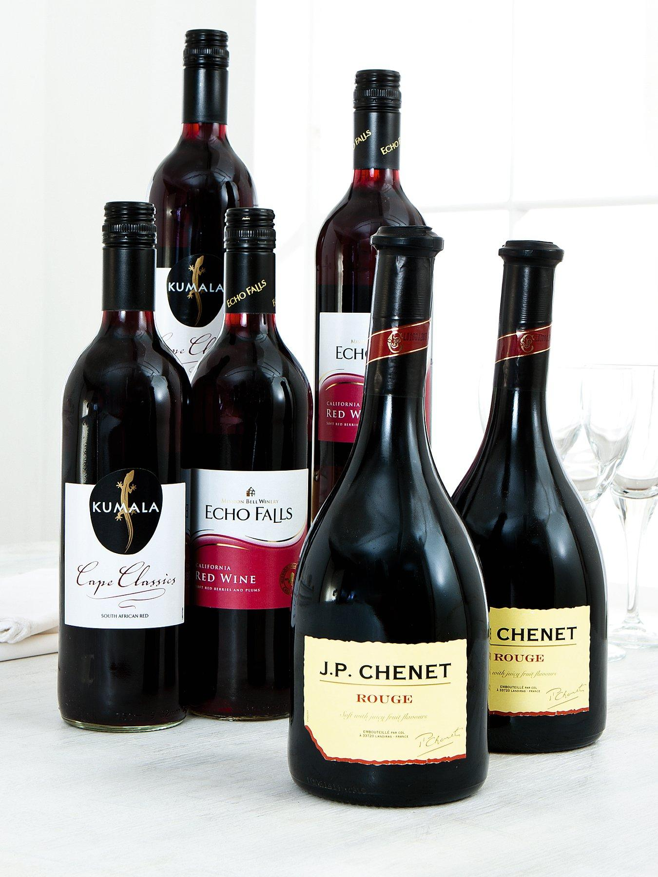 6 Bottles of Red Wine Pack