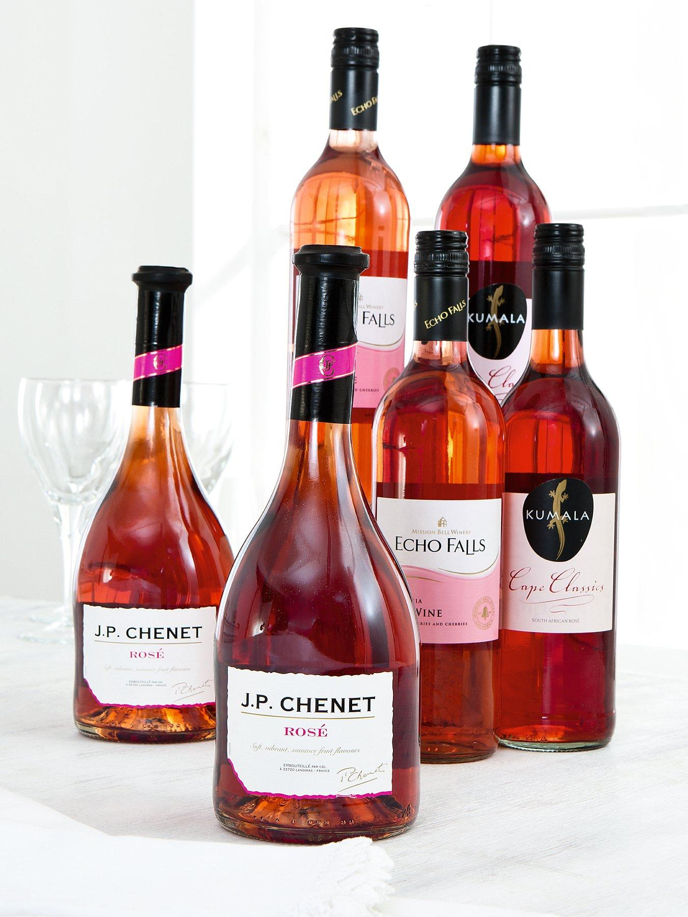 6 Bottles of Rose Wine Pack