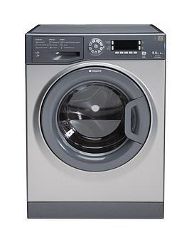 hotpoint-wdud9640g-96kg-load-1400-spin-washer-dryer-graphite
