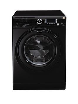 hotpoint-wdud9640k-96kg-load-1400-spin-washer-dryer-black