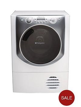 hotpoint-aqc94f7e1m-9kg-load-condenser-tumble-dryer-white