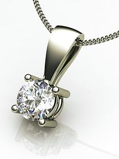 moissanite-18-carat-white-gold-50-point-solitaire-pendant