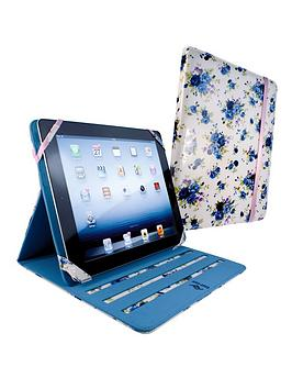 tuff-luv-slim-stand-fabric-case-cover-for-apple-ipad-2-new-ipad-white-secret-garden
