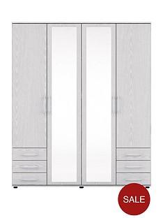manhattan-4-door-6-drawer-mirrored-wardrobe