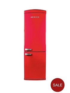 servis-c60185nfr-60cm-no-frost-fridge-freezer-red