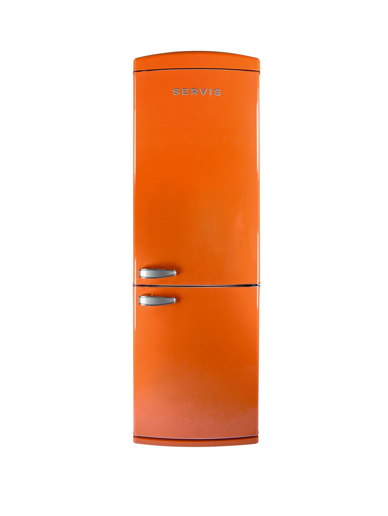 60cm No Frost Fridge Freezer  Orange Orange