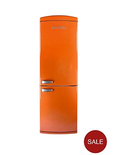 servis-c60185nftg-60cm-no-frost-fridge-freezer-orange