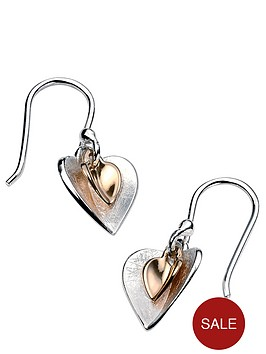 elements-silver-gold-plated-double-heart-earrings