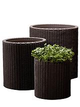 Rattan Round Planters (3 Pack)