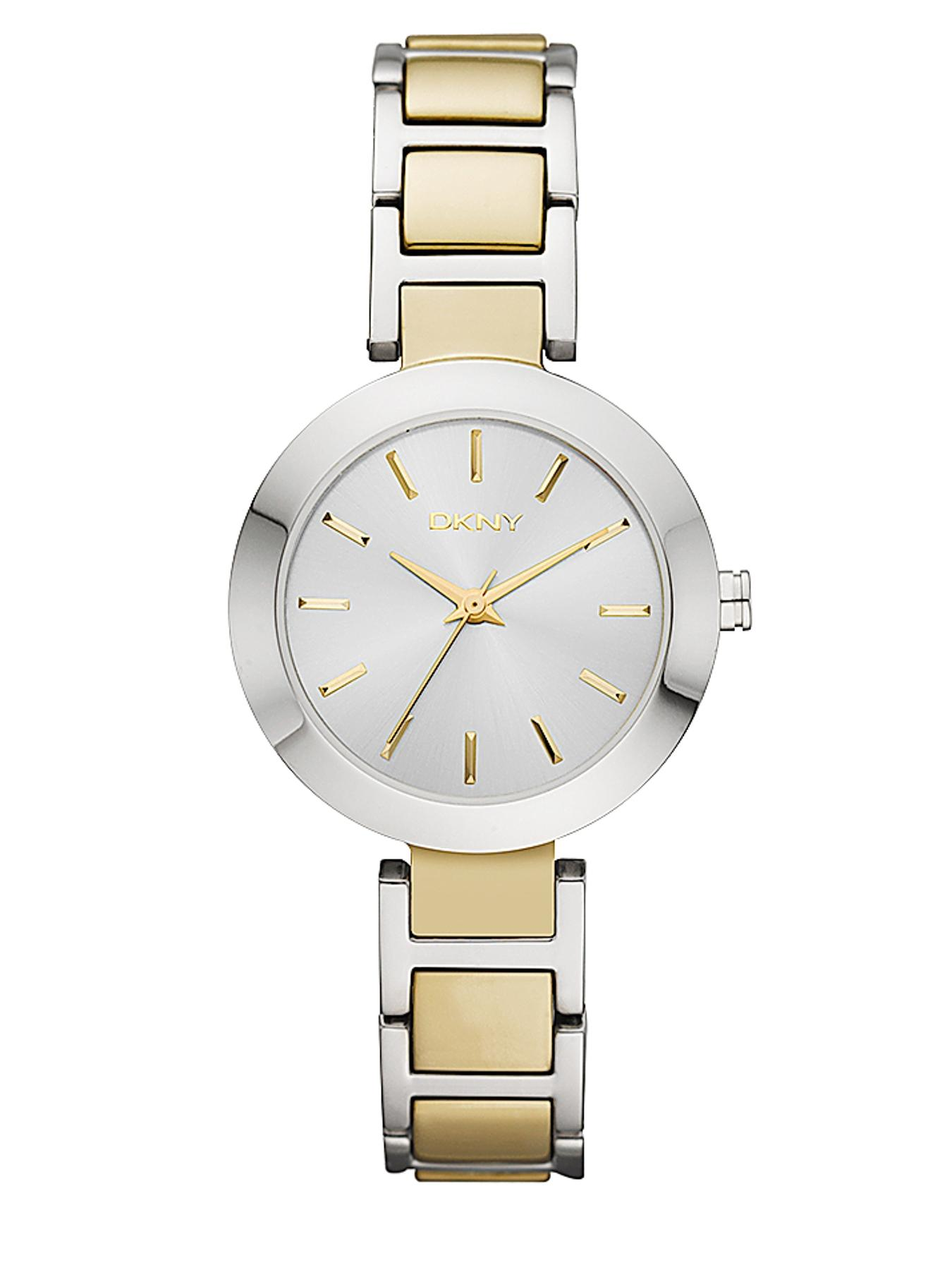 Ladies Round Dial Two Tone Watch