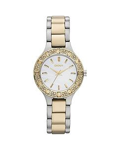 dkny-ladies-glitz-two-tone-bracelet-watch