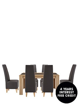 joanna-150-cm-dining-table-6-manhattan-chairs-buy-and-save