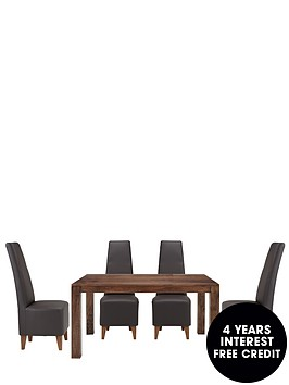 dakota-145cm-dining-table-and-4-manhattan-dining-chairs
