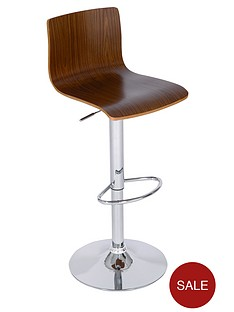 wood-effect-and-chrome-bar-chair