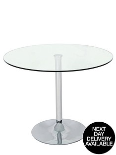roma-glass-and-chrome-round-dining-table