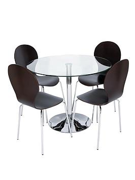 roma-glass-and-chrome-round-dining-table-4-chairs