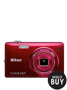 nikon-coolpix-s5200-red