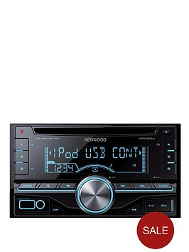 kenwood-dpx305u-in-car-stereo-2din-cdusb-receiver-with-ipod-direct-control