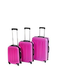 constellation-galloway-3-piece-abs-luggage-set-pink