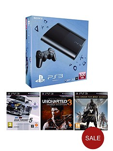 playstation-3-500gb-console-with-gran-turismo-5-uncharted-3-and-destiny