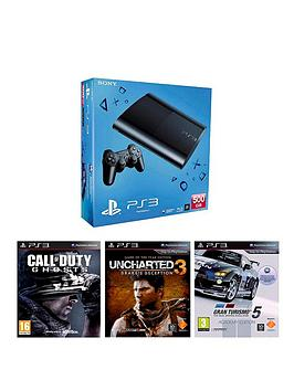 playstation-3-500gb-console-with-gran-turismo-5-uncharted-3-and-call-of-duty-ghosts