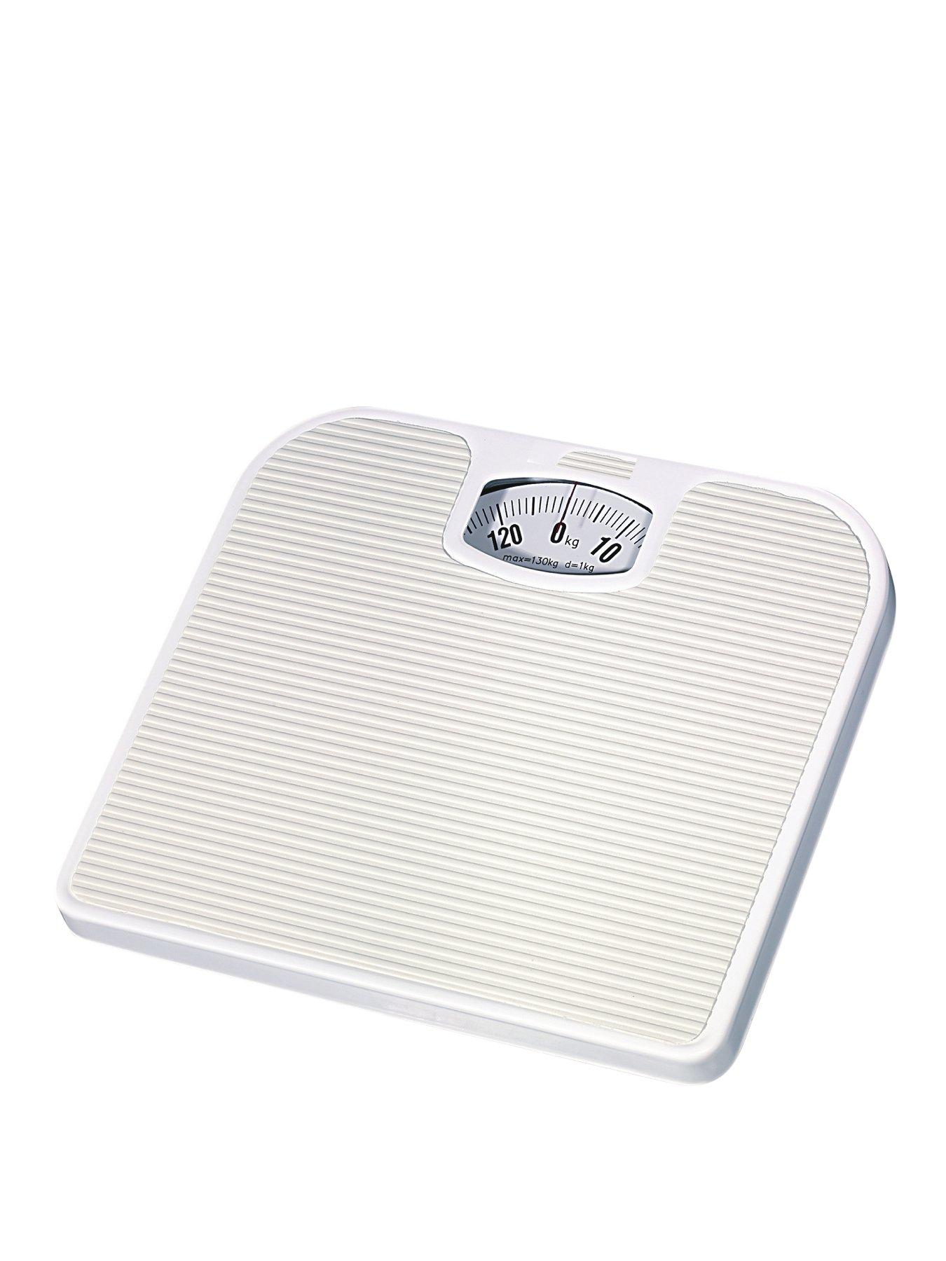 White Mechanical Bathroom Scales at Littlewoods