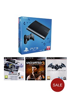 playstation-3-500gb-with-gran-turismo-5-academy-uncharted-game-of-the-year-and-batman-arkham-origins