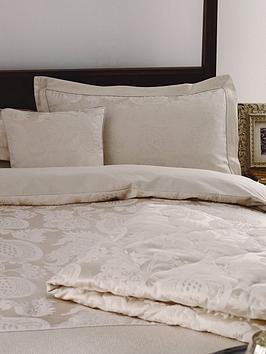 sanderson-options-china-blue-jacquard-standard-single-cream-oxford-panel-pillowcase
