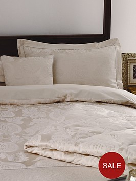 sanderson-options-china-blue-jacquard-standard-single-cream-oxford-panel-pillowcase