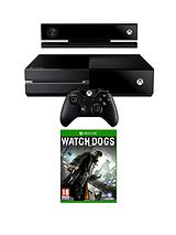 Console with Kinect, Watch Dogs and Optional 3 or 12 Months Xbox Live