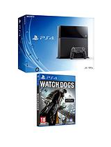 Console with Watch Dogs and Optional 3 or 12 Months PlayStation Plus