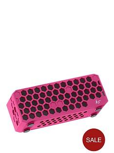 kitsound-hive-bluetoothreg-wireless-portable-stereo-speaker-pink