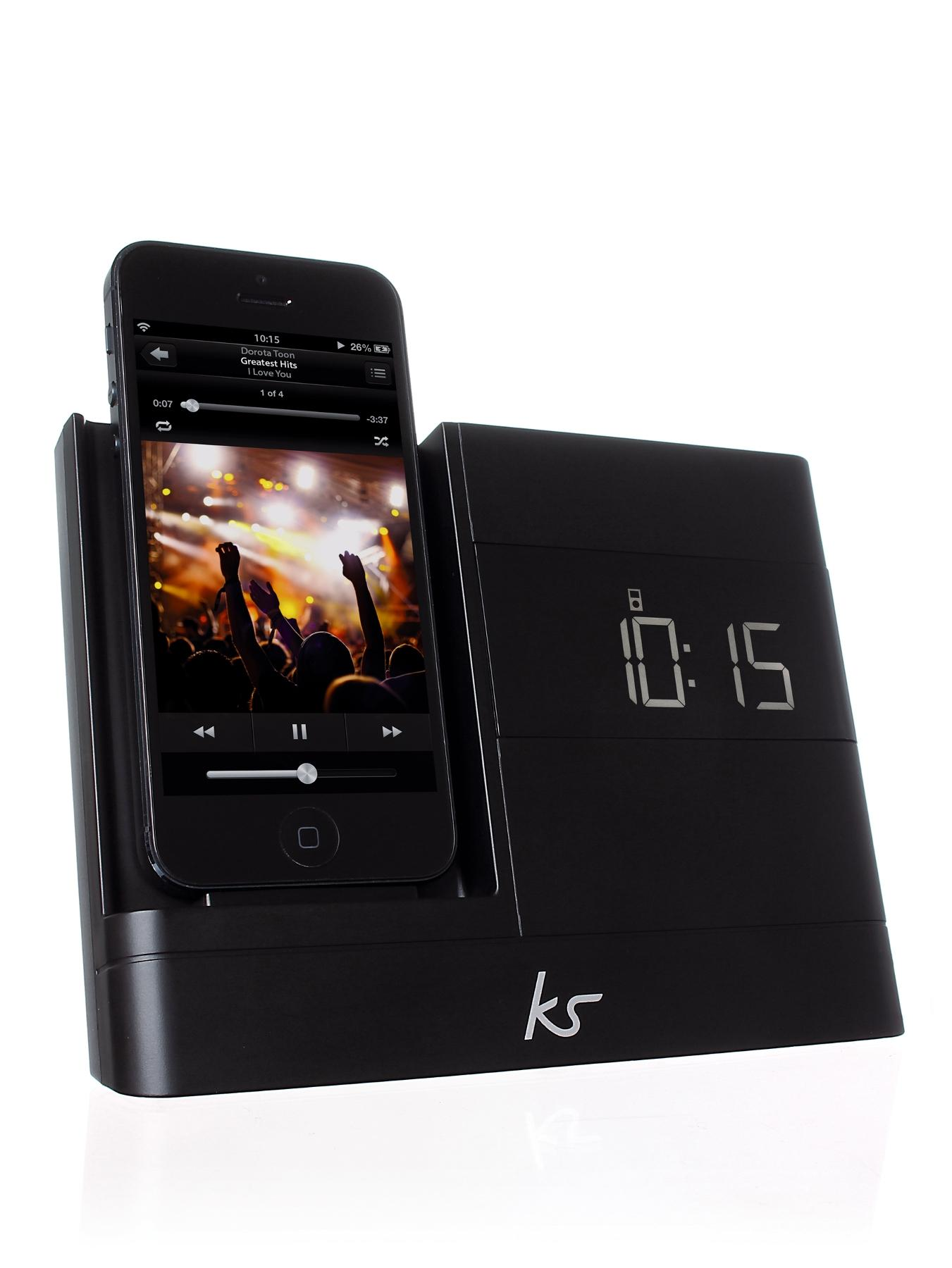 X-Dock 2 8 pin Lightning Connector Clock Radio Dock for iPhone 5 - Black at Littlewoods