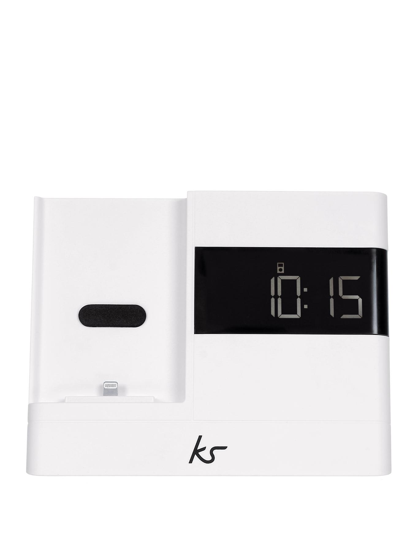X-Dock 2 Lightning Connector Clock Radio Dock for iPhone 5 White at Littlewoods