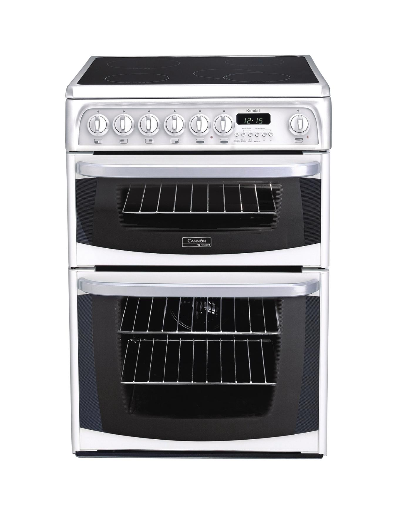 Kendal CH60EKWS 60cm Ceramic Electric Double Oven Cooker  White
