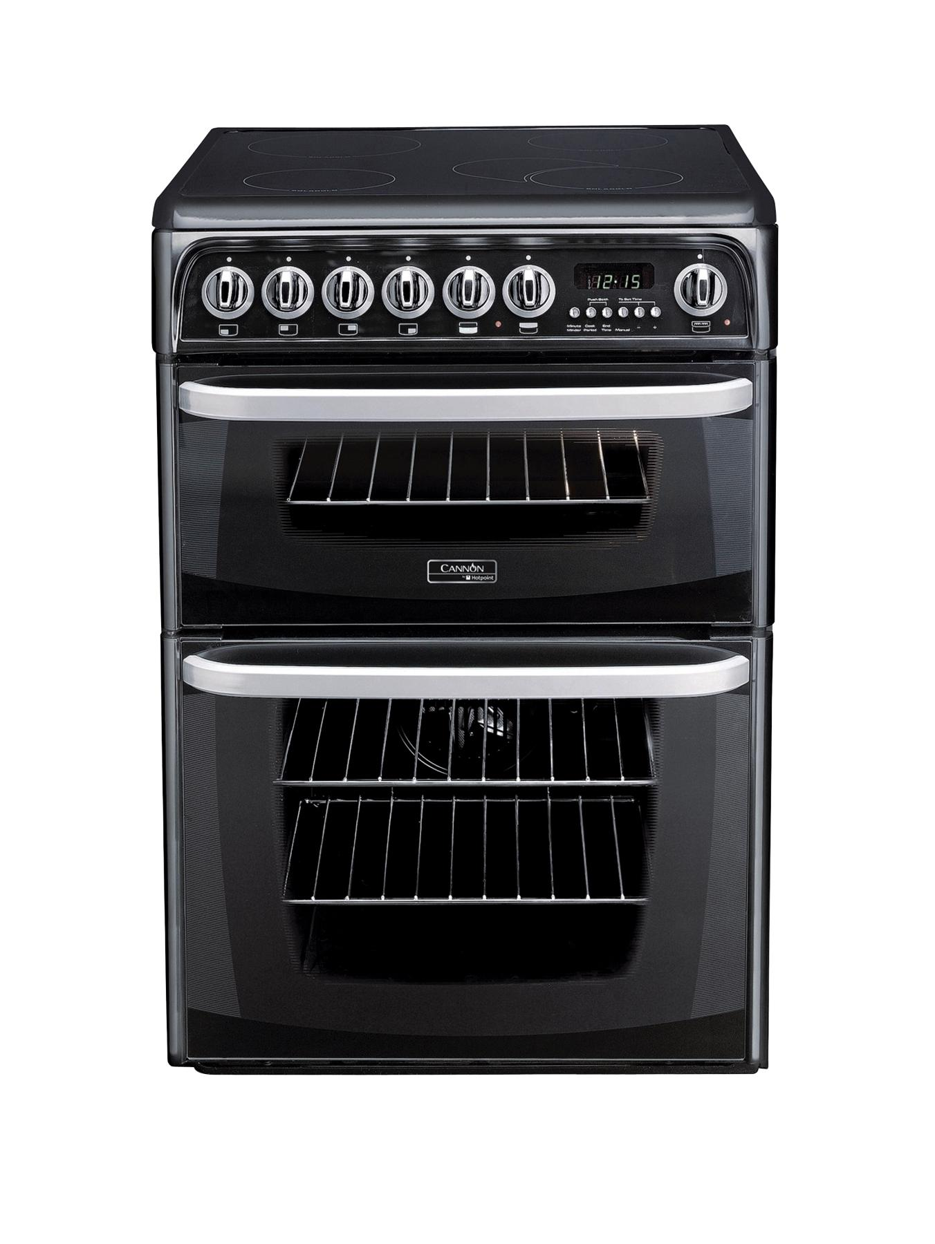 Kendal CH60EKKS 60cm Ceramic Electric Double Oven Cooker  Black