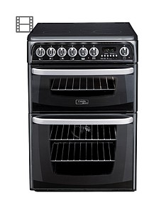 cannon-kendal-ch60ekks-60cm-ceramic-electric-double-oven-cooker-black