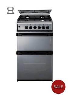 indesit-itl50gm-50cm-twin-cavity-gas-cooker-moonstone