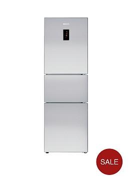 beko-cff6873gx-three-door-64cm-wide-fridge-freezer-silver