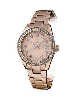 toy-watch-metallic-stones-rose-gold-time-only-aluminium-ladies-watch-with-swarovski-stones