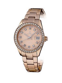 toy-watch-metallic-stones-rose-gold-time-only-aluminium-ladies-watch-with-swarovski-stones