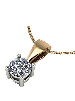 moissanite-18-carat-yellow-gold-50-point-equivalent-moissanite-pendant