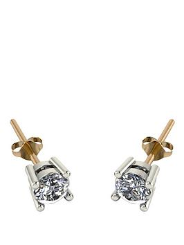 moissanite-18-carat-yellow-gold-50-point-equivalent-moissanite-earrings