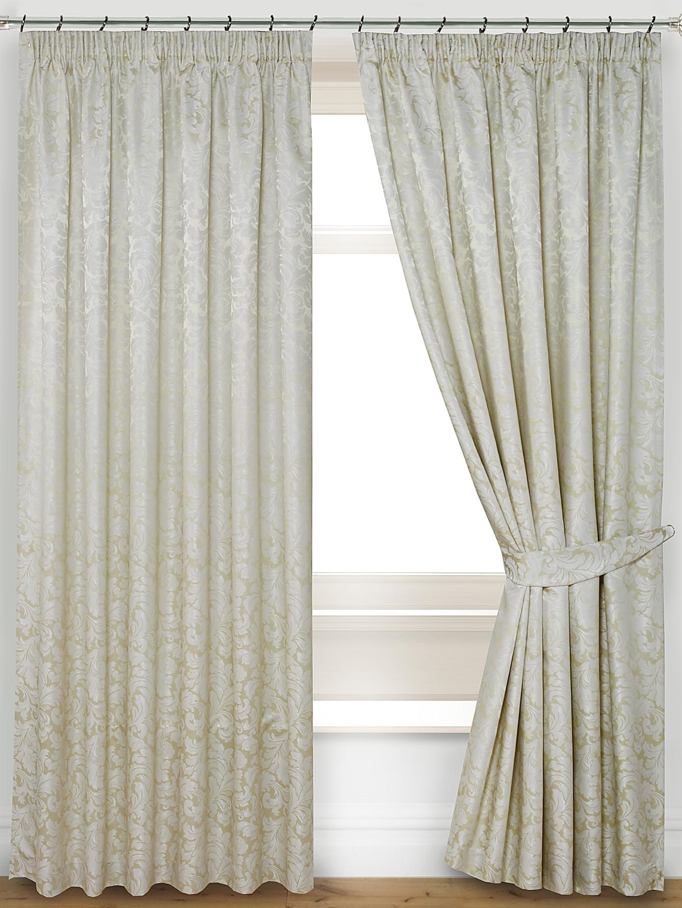 Pompeii Lined Pleated Curtains with Tie-Backs.